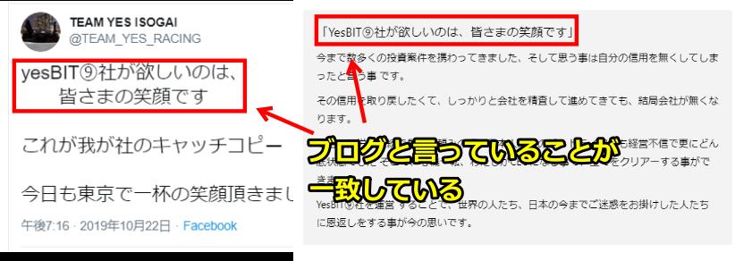YESBIT9とISOGAI HIROSHIの関係性