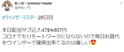 ウィンザーマスター-収益報告2