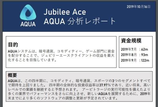 AQUA公式レポート