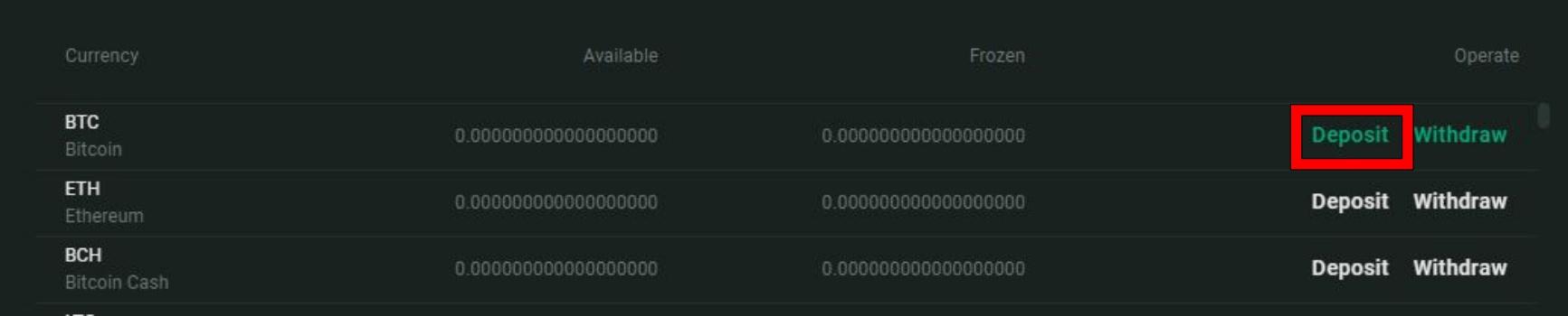 Fcoinの入金手順2
