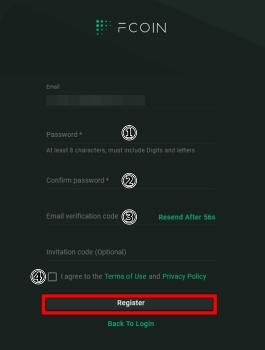 Fcoinの登録手順5