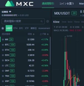 MXC取引所の取引の手順3